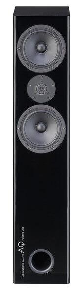 AQ Pontos 8  Precyzyjny dwudrożny audiofilski system głośnikowy w układzie D'Appolito. Obudowa głośnika wykonana jest z płyty MDF pokrytej lakierem poliestrowym o wysokim połysku. Aby osiągnąć idealny stan lakieru stosuje się do 8 warstw lakieru, który staje się bardzo sztywny i staje się częścią wzmocnienia przeciw rezonansowego kolumny. Przedni panel wykonany jest metodą kanapkową, głośniki są zagłębione w celu powstrzymania dyfrakcji na krawędzi. Zastosowane głośniki Scan-Speak, para Midwooferów z membraną z włókna szklanego pracujących we wspólnej komorze o objętości około 50 l, z wylotem bas-refleksu umieszczonym z dołu kolumny. Głośnik wysokonowy z 1″ miękką tkaniną tworzącą pierścień w kształcie kopuły zapewnia doskonałe właściwości kierunkowe dla częstotliwości powyżej 20 kHz.  Dzięki sprawnej realizacji te wysokiej klasy kolumny wyróżniają się dokładnym odwzorowaniem ludzkiego głosu i instrumentów akustycznych. Gitary i skrzypiec brzmią bardzo wiernie, natomiast w głosie piosenkarza słychać każdy szczegół, oddech, jakby występował przed Wami. Wrażenie jeszcze bardziej zwiększa dokładność przestrzenna, tak, że orkiestra nie jest powiązana w jeden duży dźwięk, ale każdy instrument zachowuje swój charakter i detale.